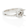 .55ct Ritani Bella Vita Collection Diamond 18k White Gold Halo Engagement Ring Setting