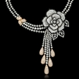 39.58ct Diamond 18k Two Tone Gold Flower Necklace