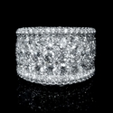 Diamond 18k White Gold Wide Band Ring