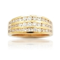 Diamond 18k Yellow Gold Wedding Band Ring