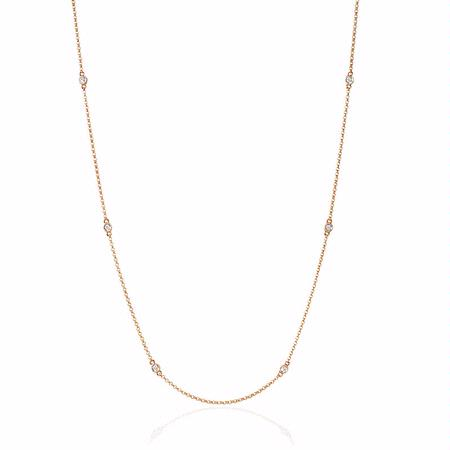 Diamond Chain 14k Rose Gold Necklace