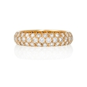 Diamond 18k Pink Gold Eternity Wedding Band Ring