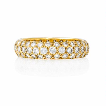 1 97ct Diamond 18k Yellow Gold Eternity Wedding Band Ring