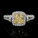 GIA Certified Diamond 18k White Gold Engagement Ring