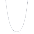 .40ct Diamond Chain 18k White Gold Necklace