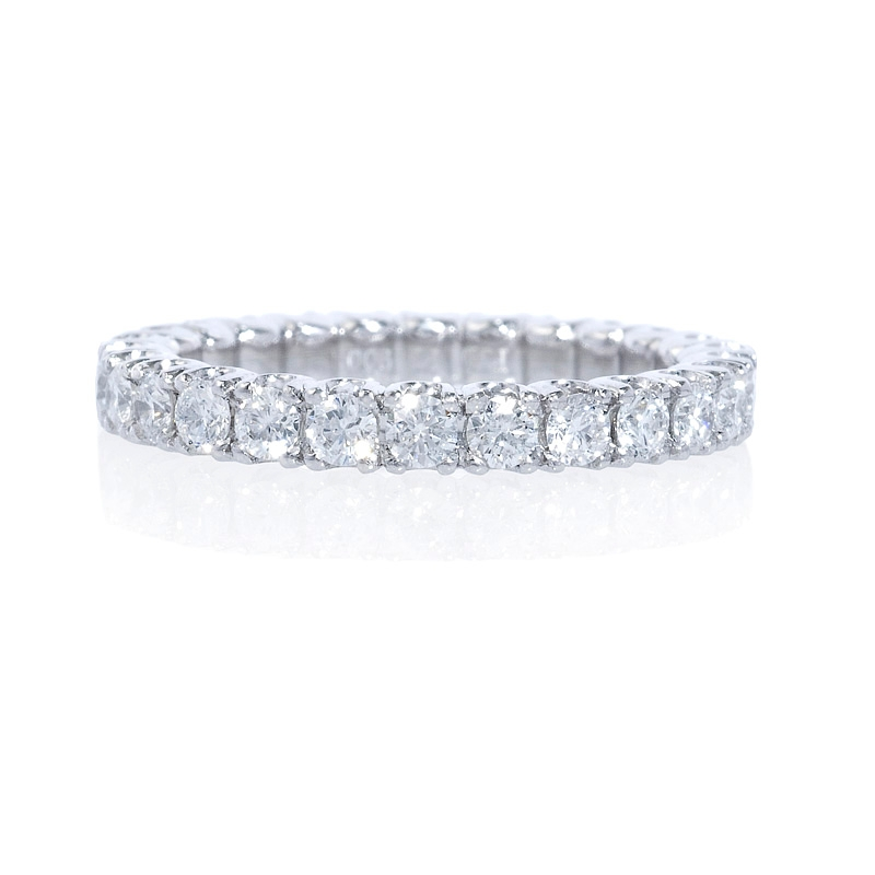 Diamond Engagement Ring With Eternity Band