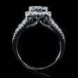 1.72ct Diamond 18k White Gold Round Brilliant Cluster Halo Ring