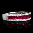 .21ct Diamond and Ruby 18k White Gold Ring