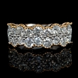 1.54ct Diamond Antique Style 18k Two Tone Gold Ring