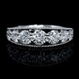 1.56ct Diamond Antique Style 18k White Gold Wedding Band Ring