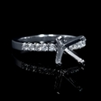 .18ct Diamond Platinum Engagement Ring Setting