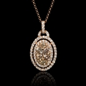 Diamond 18k Rose Gold Pendant