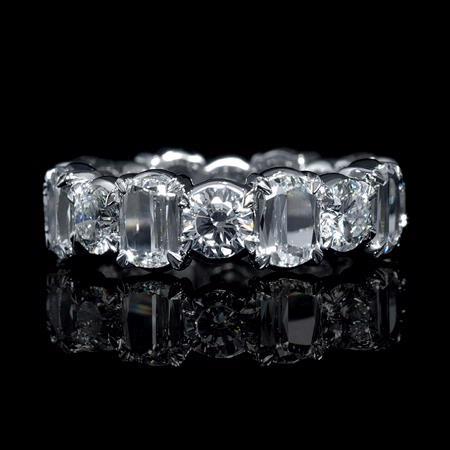 7 28ct Christopher Designs L Amour Crisscut Collection Diamond Platinum Eternity Wedding Band Ring