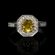 1.32ct GIA Certified Diamond Platinum and 18K Yellow Gold Engagement Ring