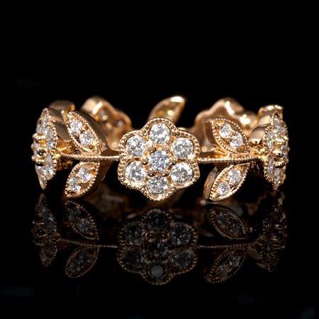 1.00ct Diamond 18k Rose Gold Ring