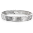 13.32ct Diamond 18k White Gold Bracelet