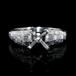 .57ct Diamond Antique Style Platinum and 18k White Gold Engagement Ring Setting