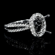 .63ct Diamond 18k White Gold Halo Engagement Ring Setting