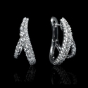 Diamond 18k White Gold Huggie Earrings