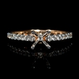 .37ct Diamond 18k Two Tone Gold  Engagement Ring Setting
