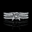 .36ct Diamond 18k White Gold Engagement Ring Setting