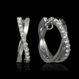 .30ct Diamond 14k White Gold Huggie Earrings