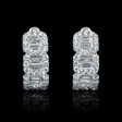 1.67ct Diamond 18k White Gold Huggie Earrings
