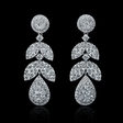 3.71cts Diamond 18k White Gold Dangle Earrings