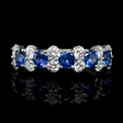 .97ct Diamond and Blue Sapphire 18k White Gold Ring