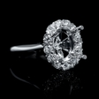 .66ct Diamond 18k White Gold Halo Engagement Ring Setting
