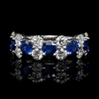 1.69cts Diamond and Blue Sapphire 18k White Gold Ring