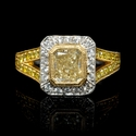 Diamond Antique Style 18k Two Tone Gold Engagement Ring