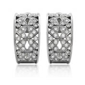 Diamond Antique Style 18k White Gold Earrings